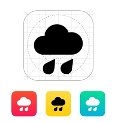 Downpour weather icon vector