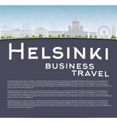 Helsinki skyline and copy space vector