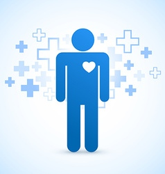 Blue medical design vector