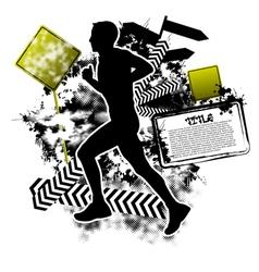 Running grunge vector