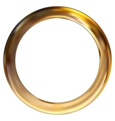 Frame gold ring vector