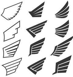 Wings set 1 vector