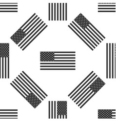 American flag icon seamless pattern flag of usa vector