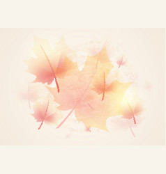autumn background vintage vector image vector image