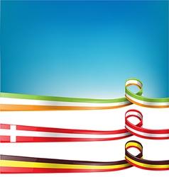 belgium switzerland and ireland flag set vector image