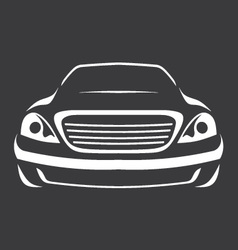 Big car silhouette vector image