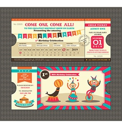 Birthday card Ticket style vector image vector image