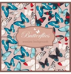 Butterflies seamless set vector