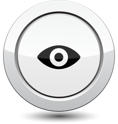 Button with Eye Icon vector image vector image