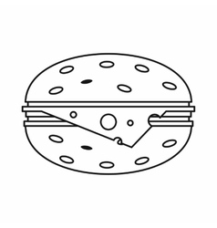 Cheeseburger icon outline style vector