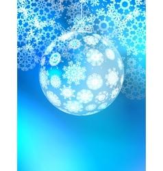 Christmas ball on abstract light EPS10 vector image vector image