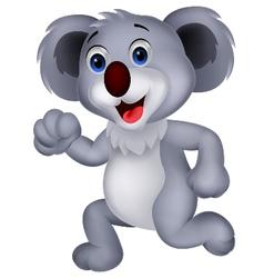 Cute koala cartoon running vector image vector image