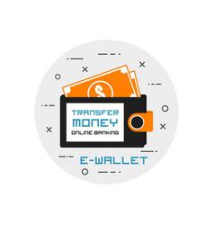 E-wallet vector