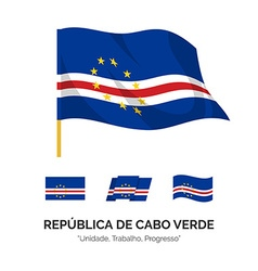 Flag of the republic of cape verde vector
