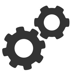 gears flat icon vector image vector image