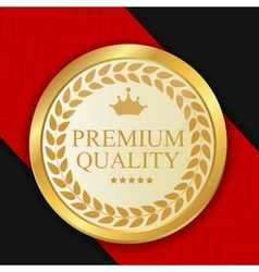 Gold Premium Quality Label vector image vector image