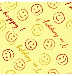 I am happy pattern vector