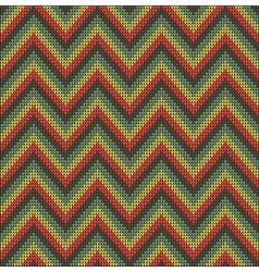 Knitting pattern sweater battlement vector