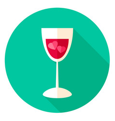 love drink circle icon vector image vector image
