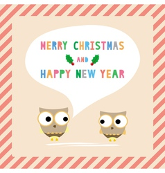 Mc and hny greeting card10 vector