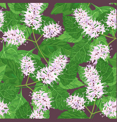 patchouli seamless pattern vector image vector image