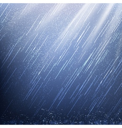 Rain in Rays of Light vector image
