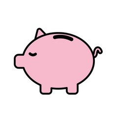 save money inside pig in the home vector image vector image