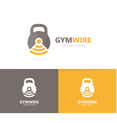 Sport and wifi logo combination gym and vector