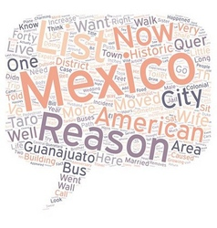 The And One Reasons We Live In Mexico text vector image