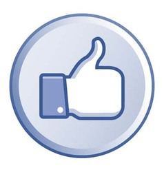Thumb up round button vector image