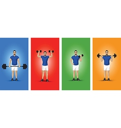 training group colour background vector image vector image