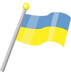 Ukraine Flag Isolated In Official Colors vector image