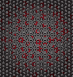 Web gray perforated metal abstract background red vector
