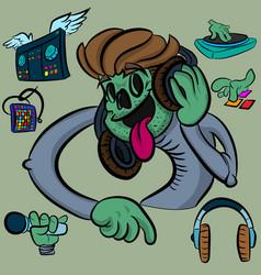 Zombie dj vector