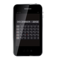 2013 year calendar on abstract design phone vector