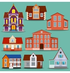 Set of different houses vector image