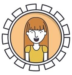 Isolated woman cartoon design vector