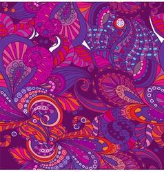 seamless violet flower ornament vector image