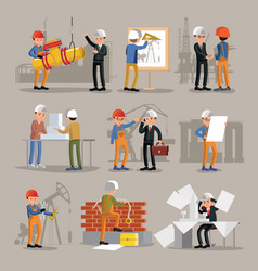 industrial professional engineers set vector image