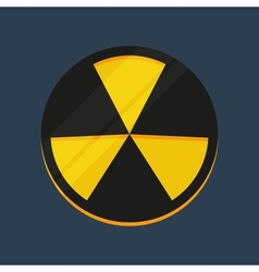 Flat warning sign icon vector