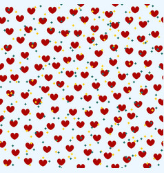 heart pattern with stars seamless valentine vector image
