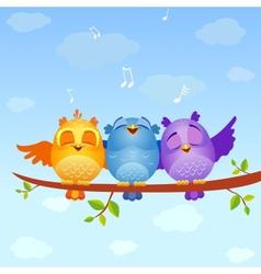 Birds sing vector image