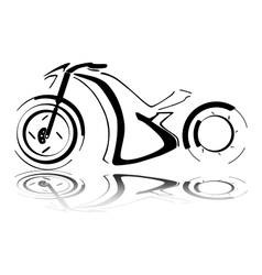 Black motorcycle silhouette vector