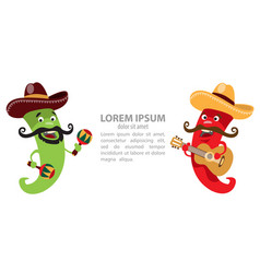 2 peppers - cowboys play musical instruments vector image
