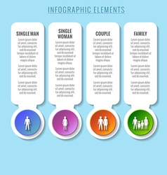 Infographic elements relationship and family vector