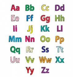 Alphabet coloring vector