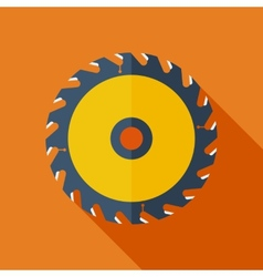 Modern flat design concept icon saw circula vector