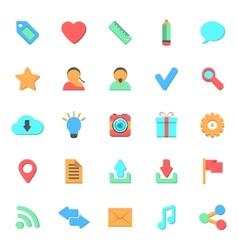 set of flat web icons vector image