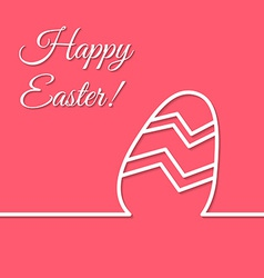Happy easter holiday simple line egg poster vector