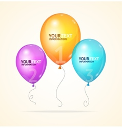 Ballon option banner vector